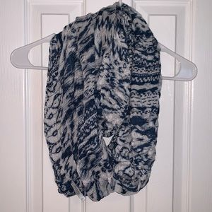 Charlotte Russe Blue Patterned Infinity Scarf